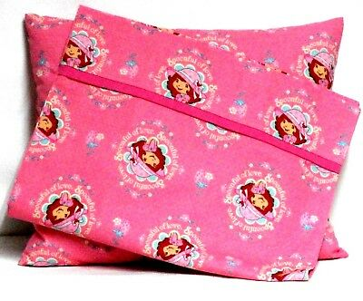 Strawberry Shortcake Toddler Pillow and Pillowcase Pink Cotton ST17 New Handmade
