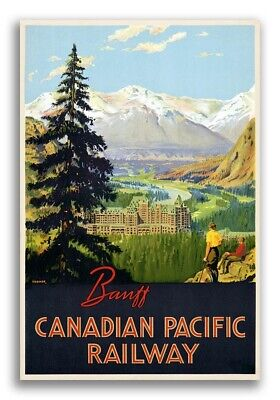 1930s Banff Canadian Pacific Railway - Vintage Style Travel Poster - 24x36