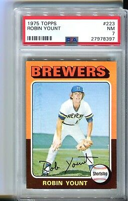 1975 Topps Robin Yount ROOKIE RC #223 PSA 7 8 NR MINT CENTERED LOOKS BETTER!
