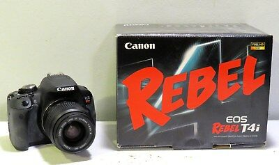 Canon EOS Rebel T4i Digital Camera with 18-55mm Lens And Extras