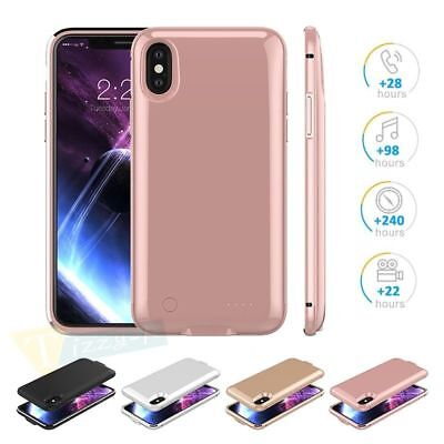 For iPhone X Battery External Charging Power Bank Charger Back Case Backup Cover