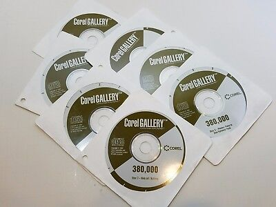 Corel GALLERY 380,000 Clipart Images - 7 Disc Set