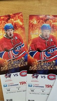 Montreal Canadiens vs Blue Jackets Tickets 11/27/17 (Montreal)