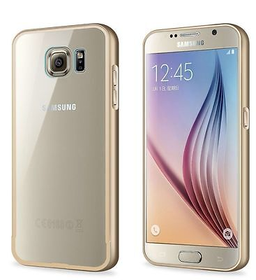 Aluminum Metal Frame With Clear Back Cover Case For Samsung Galaxy S6 Edge