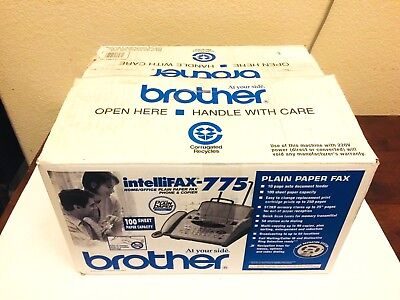 Brother Intellifax 775 Plain Paper Fax Phone And Copier