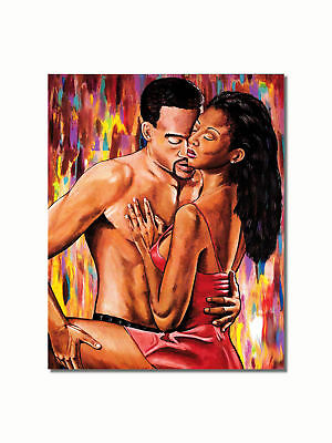 African American Black Couple Hold Me Close Wall Picture 8x10 Art Print