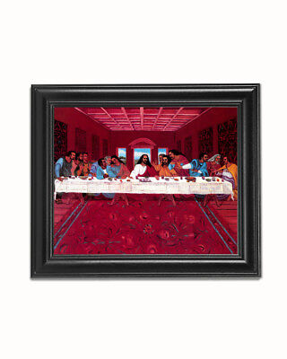 African American Black Jesus Christ Last Supper #2 Wall Picture 8x10 Art Print