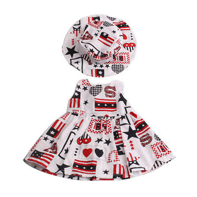 Stylish Clothes for 18inch American Girl Our Generation Dolls Dress Hat Suit
