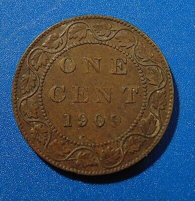1909 CANADA LARGE CENT one 1 penny copper coin Edward VII
