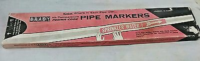 Brady Pipe Markers  25 Cards Aro-123Sy