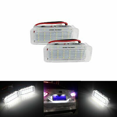 2x LED Licence Number Plate Light Ford Fiesta Focus C-Max Kuga Mondeo Jaguar XF