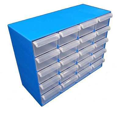 2 x Plastic Products 20 Drawer Compartment Organiser Fischer