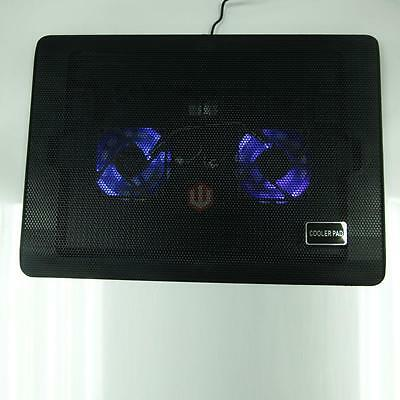 """12""""-17"""" Laptop Notebook Powerful LED USB 2 Fan Net Air Cooling Cooler Pad Stand"""