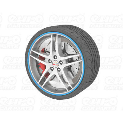 """Universal Alloy Wheel Protector Fits Wheels Up To 22"""" Prevents Kurb Marks Blue"""