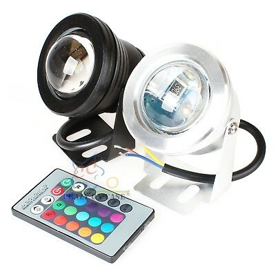 10W LED Underwater Spot Landscape Garden Light Fountain Pond Pool Lamp 12V IP67