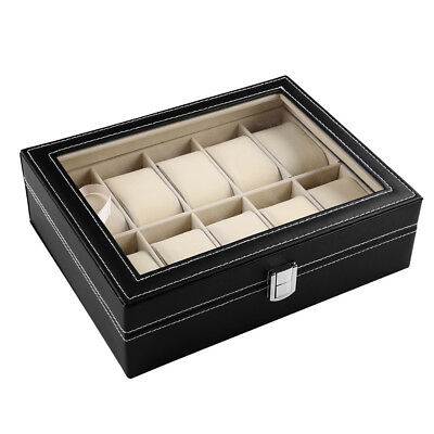 10 Uhren Uhrenboxen Uhrenetui Uhrenkasten leder leather Watch Display Case Box