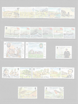 ISLE of MAN 1980 Commemoratives - 6 sets - used
