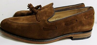 Loake Lincoln Polo Suede Brown Loafer 10 F - New Slight Seconds RRP £170 (2915)