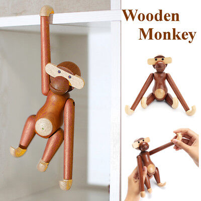 Mid Century Vintage Modern Wooden Monkey Denmark Design Animal Doll Child's Toy