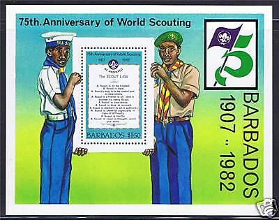 Barbados 1982 Anniv of World Scouting MS SG713 MNH