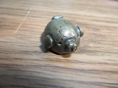 "Vintage Miniature Pewter/brass ? Pig Figure 3/4"" Tall"