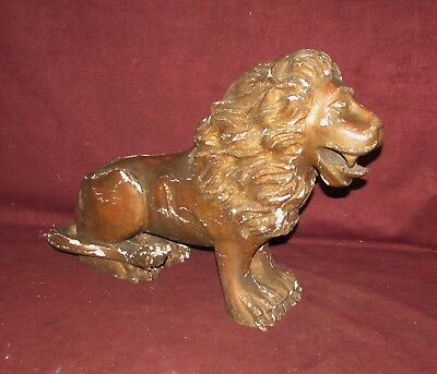 Antique English Wood Lion Carving Sculpture Previously Gilded 18th Century ??
