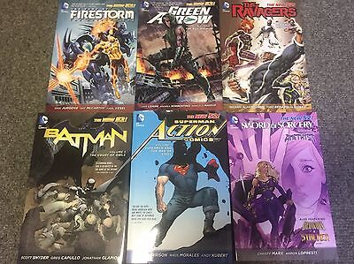 NEW 52 DC COMICS Lot of 6 - TPB HARDCOVER - BATMAN SUPERMAN GREEN ARROW