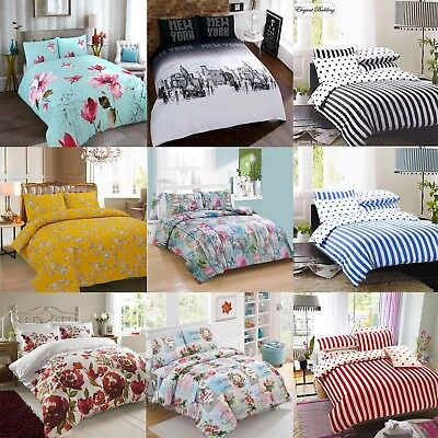 Bedding Set With Duvet Cover Pillow Cases Quilt Cover Set Single Double King NEW