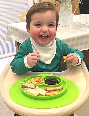 Baby Placemat Silicone Non Slip 3 Food Section Plate UK Seller Quick Delivery