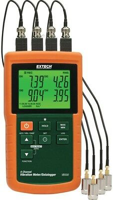 4 Channel Vibration Meter SD Card Alkaline Specialty Test Meter Hold Frequency