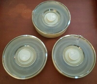 Three (3) Argus 100 Roundabout Slide Trays with Three (3) Dust Covers