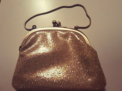 Soap and glory Replica Gold Sparkle Vintage Evening Bag New Christmas Party