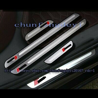4pcs Top Stainless Steel Door Sill Plate Welcome Pedal for Audi A6 C7 2012-2016