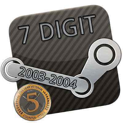 Steam Account * 7 Digit / 7 stellig * 13 Jahre / Years * 2004 + Original E-Mail