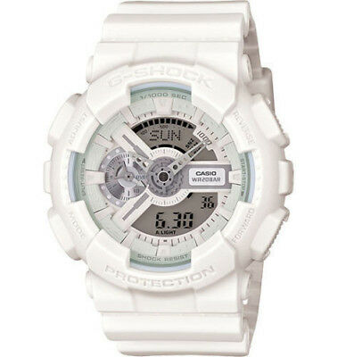 Casio G-Shock White Dial Resin Quartz Men's Watch GA110BC-7A