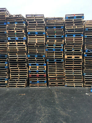 "Used Recycled Wood Pallets-48"" x 40"" 4-Way Pallets ($4 EA,) PICK-UP ONLY"