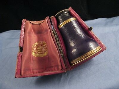 Antique Georgian Carpenter & Westley Bancks Monocular Telescope Spyglass & Case