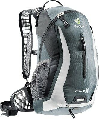 "Deuter Race X Back Pack Black 17""X9.4""X7.1"" W/ Water Reservoir"