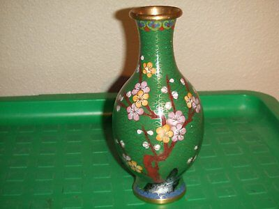 Chinese Cloisonne Vase 6 1/2 inches tall