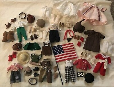 """LOT OF 8 VINTAGE MADAME ALEXANDER 8"""" CHARACTER DOLL OUTFITS~Robin Hood Marion (G"""