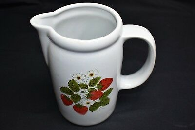 Springtime Porcelain Water Pitcher Strawberries & Blooms