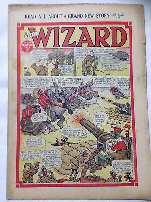 DC Thompson. THE WIZARD. Wartime Comic. January 10th 1942 Issue 989.