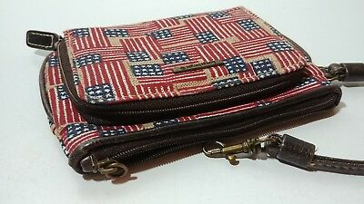 Adorable...Longaberger Patriotic Wristlet..in Red,White,& Blue HOMESTEAD...EUC