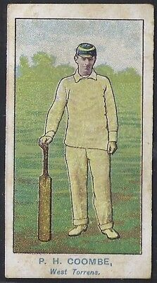 Wills-Australian Club Cricket Ers Blue Back(Brown Frame)- Coombe - West Torrens