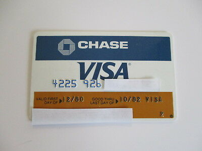 Vintage Chase Bank Visa Credit Card 12 / 1980