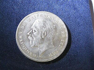 British Silver Crown George V 1935 Extra Fine Condition Ungraded Professionally