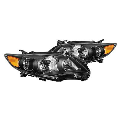For Toyota Corolla 2011-2013 Lumen 87-1001659 Black Factory Style Headlights