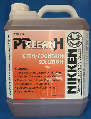 Nikken #71 Pp Clean H Etch/fountain Solution For Printing Plates 1 Gallon