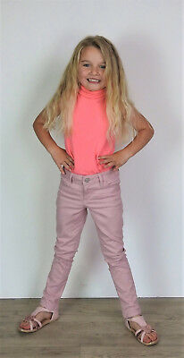 Girls Skinny Denim Jeans Kids EX STORE Stretch Coloured Slim Jeggings