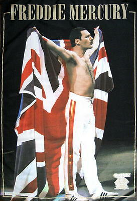 Queen Flagge Fahne Posterflagge Freddie Mercury On Stage England Flag